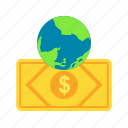 bank, currency, exchange, global, money, transfer icon