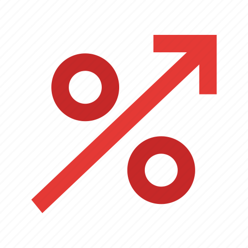 business, finance, financial, high, interest, percent, percentage icon