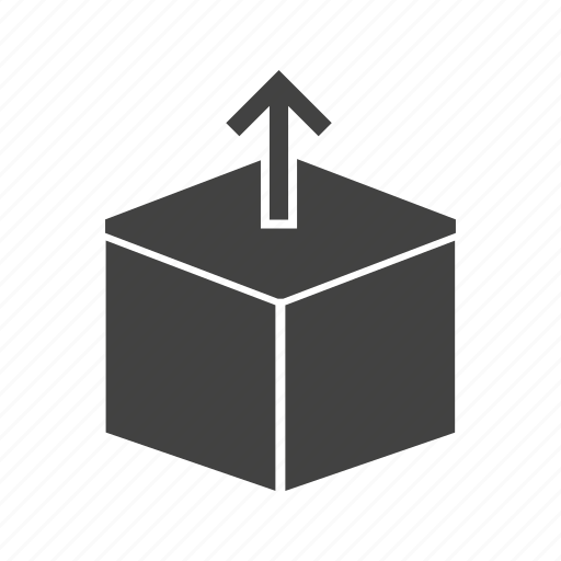 bag, box, carton, open, package, packaging icon