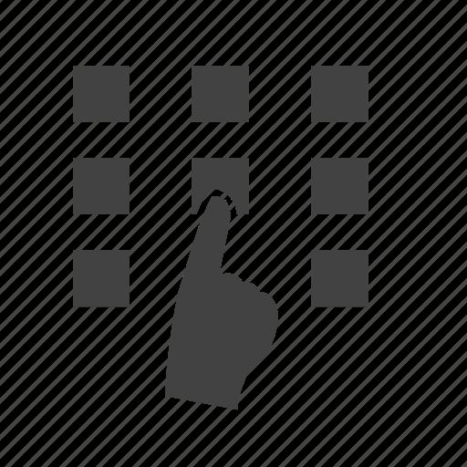 business, finance, lock, locker, money, pattern, technology icon