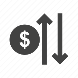 arrow, business, cost, decrease, increase, rate, reduce icon