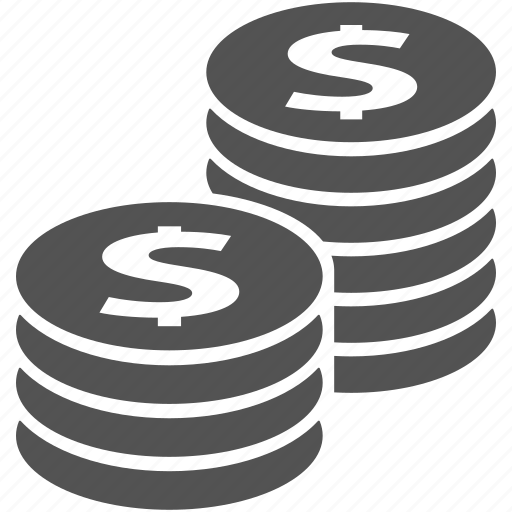 cash, coin, coins, dollar, finance, financial, money icon