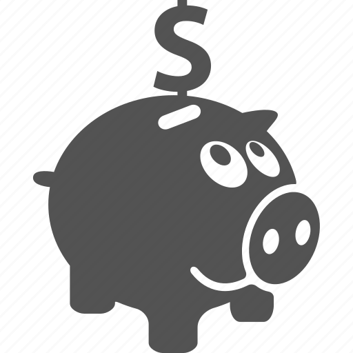 coin, finance, financial, money, pig, save, saving icon