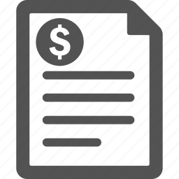 billing, cash, finance, invoice, money, order, payment icon
