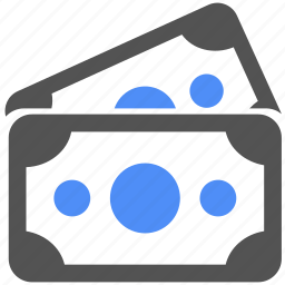blue, cash, dollar, finance, money, pay, shopping icon