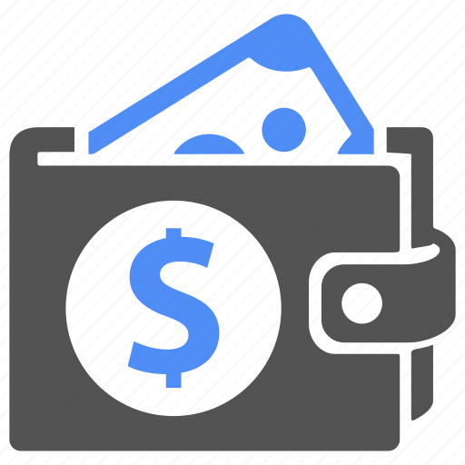 blue, cash, dollar, finance, money, pay, wallet icon