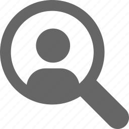 magnifier, magnify, magnifying, people, search, searching, view icon