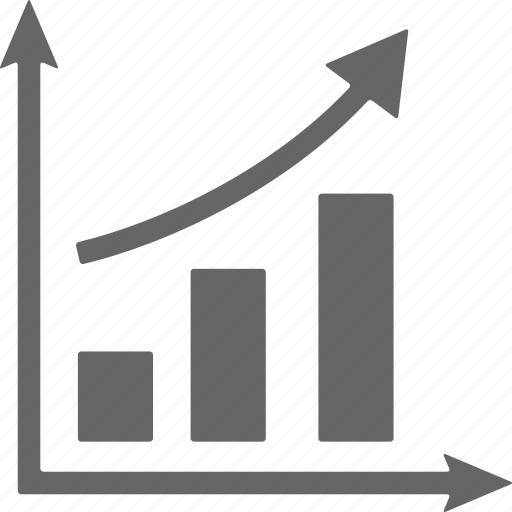 analys, analytics, arrows, ascending, chart, diagram, graph icon