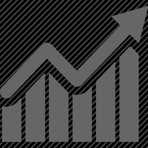 analys, analytics, arrow, ascending, chart, diagram, grow icon