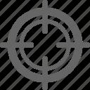 goal, hole, peep, peep hole, target icon