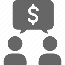chat, group, money, talk icon