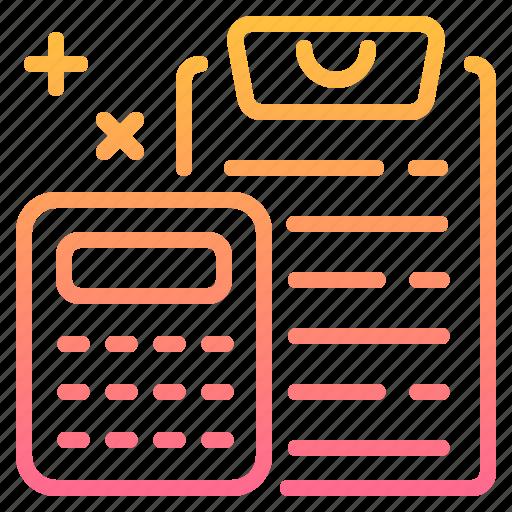 business, calculator, document, finance, management icon