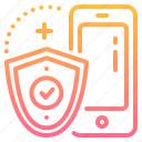 finance, mobile, online, protect, protection, security, system icon