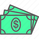 banking, cash, currency, dollar, finance, money, paper icon
