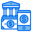 bank, financial, mobilephone, money, screen icon