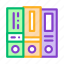 accounting, financial, folders, reports icon