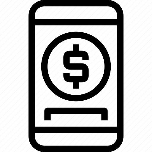 banking, business, device, finance, mobile, online, smartphone icon