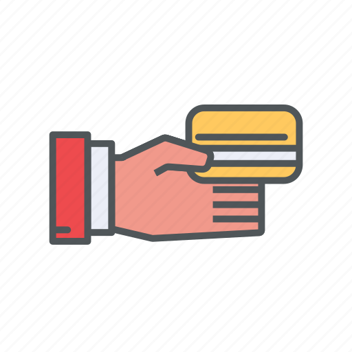 card, filled, financial, method, outline, payment icon