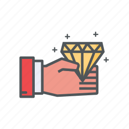 bonus, diamond, filled, financial, membership, outline icon