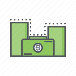 bonus, filled, financial, fund, income, money, outline icon