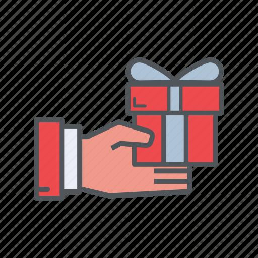 bonus, box, filled, financial, outline, prize icon