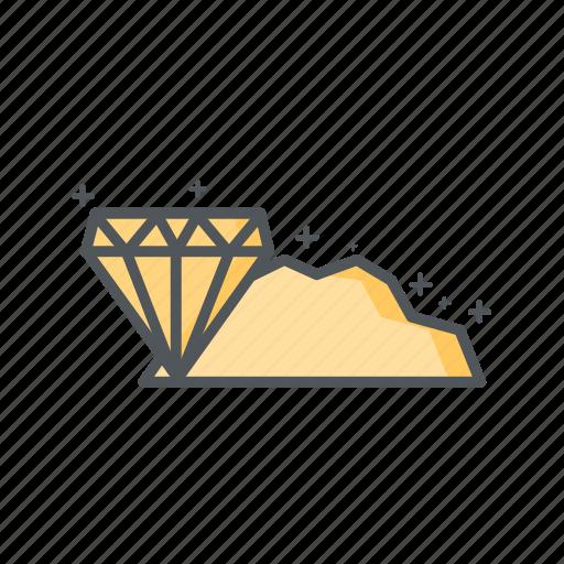bonus, diamond, filled, financial, outline, prize icon