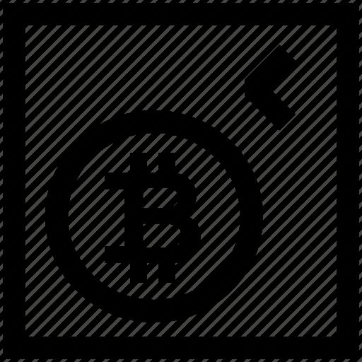 arrow right, bitcoin, crypto, low amount, move right icon