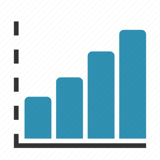 analytics, axis, bars, chart, growth, report icon