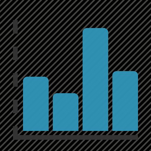 analytics, axis, bars, chart, statistics icon