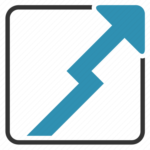 arrow, chart, growth, up icon