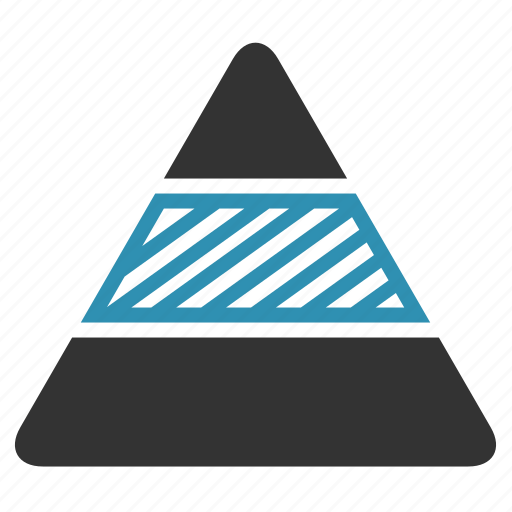 analytics, chart, pyramid, report, triangle icon
