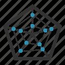 diagram, report, statistics, pentagon, chart