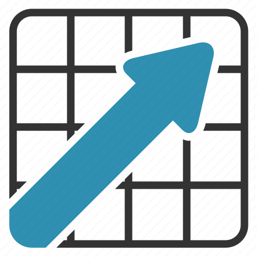 arrow, chart, growth, report, up icon