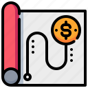 document, dollar, financial, money, paper, tactic icon