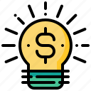 creative, currency, dollar, idea, money, rich icon