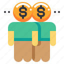 businessman, currency, man, money, trader icon