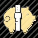 bank, cash, coins, piggy, save icon