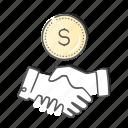 agreement, contract, deal, handshake, partner icon