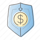 dollar, protect, security, shield