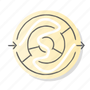 labyrinth, planning, puzzle, solution, strategy icon