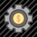 bank, financial, making, money, online, tech icon