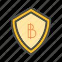 bank, bitcoin, financial, money, online, security, tech icon