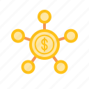 bank, crowdfunding, finance, internet, money, online icon