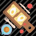 egg, bread, tea