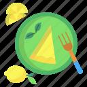 lemon, cheese, cake