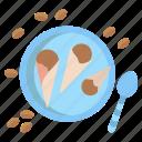 chocolate, coffee, ice, cream