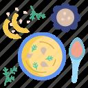 pumpkin, soup, with, cream
