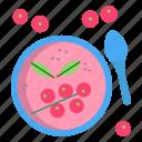 yogurt, cranberries