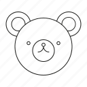 bear, teddy, toys icon