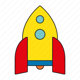 rocket, science, space, spaceship, toys icon